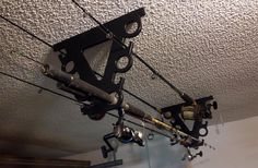 10 Fishing Rod Pole Reel COOL Holder Garage Ceiling Wall Mount Rack Organizer | eBay