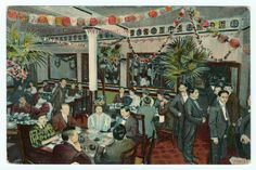 Interior of a Chinese Restaurant (1900-1910), Vintage Print