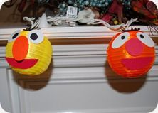 Bright idea! DIY paper lanterns featuring Sesame Street characters.
