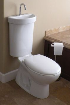 Turn the tiniest place into a bathroom! Great for a bunkie.