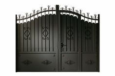 portail avec portillon integr gates pinterest. Black Bedroom Furniture Sets. Home Design Ideas