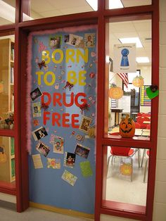 Doors Decorated for Red Ribbon Week by Old Shoe Woman, via Flickr