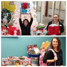 Our Foley location donated to the Snook Youth Club's Angel Tree program and our Studer Family Children's Hospital toy drive.  Don't they look they are having fun?