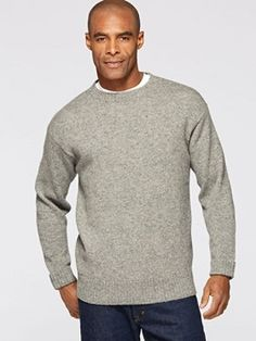A grab-and-go classic, expertly crafted with marled or heathered yarns (depending on color) for rich depth of textured and hue. Ribbed bottom, neck and cuffs.  100% pure virgin wool Machine wash
