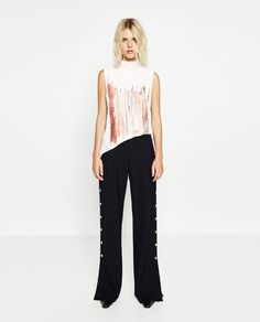 Image 1 of TURTLE NECK T-SHIRT from Zara