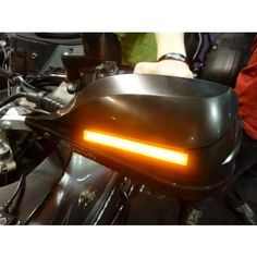 "AdMore Lighting High Output LED Flush Mount Turn Signals for Barkbusters Storm handguards - 4.5"" length"
