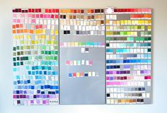 Color Card Magnets - Sewing Room Update