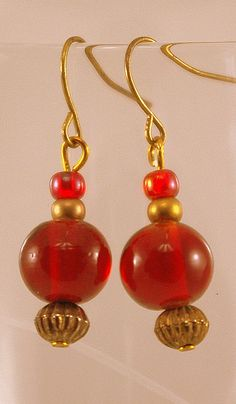 Crimson Earrings by BlingbyDonna on Etsy, $16.00
