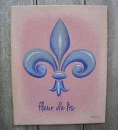 FLEUR-DE-LIS ⚜ Original Acrylic Canvas by SugarCreekArt on Etsy
