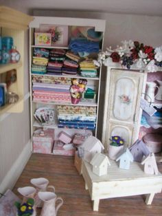 :) miniature sewing and craft store