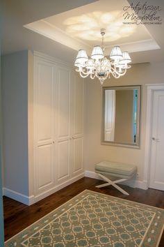 klasyczna szafa do holu, przedpokoju, entry classic wardrobe, hall closet & storage - wykonanie Artystyczna Manufaktura
