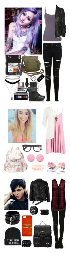 """""""PRP with @shadowxxqueen"""" by insane-alice-madness ❤ liked on Polyvore featuring maurices, Rick Owens, Kat Von D, Miss Selfridge, GAS Jeans, kiz&Co., Givenchy, Bobbi Brown Cosmetics, Sennheiser and Converse"""