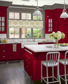 22 best red kitchens images red kitchen kitchen design kitchen rh pinterest com