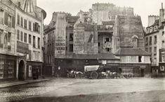 Charles Marville / Views of Old Paris: Place Saint Andre des Arts, c. 1866