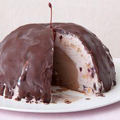 Chocolate Cherry Bombe