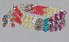 3-Strand Swarovski Bracelet  This little beauty shimmer, shines and sparkles. Made with 75 Swarovski Crystals – bicones and rounds, 6 Swarovski