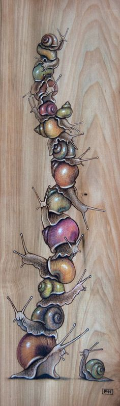 Snail Pile 03 by Fay Helfer - LOVE this painting!!!