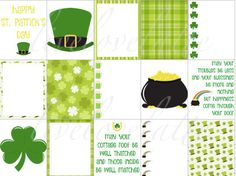 ST PATRICKS DAY Erin Condren Vertical Planner Stickers - digital - INSTANT DOWNLOAD  This listing is for 1 (one) sheet (PDF format) of ST PATRICKS DAY Planner Stickers that fits perfectly in your Erin Condren Life Planner (Vertical Weekly Layout). They measure 1.9 x 1.5 each.  The non-editable PDF allows you to save to your computer and print as many as you would like.  Print on sticker paper or labels.  Suggestion: Avery Shipping Labels - 8.5x11, White (5165) - http://amzn.to/...