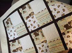 Beautiful neutral baby quilt by customquiltsbymary on Etsy, $149.99
