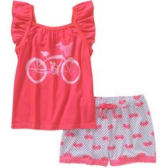 Girls' Bike 2 Piece Sleep Set