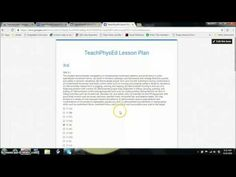 TeachPhysEd - Google Form Lesson Plan #physed Pe Lesson Plans, Pe Lessons, Educational Technology, Physical Education, Physics, Gym, How To Plan, Google, Physical Education Lessons
