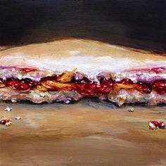 """""""PB  and  Yum (PB and J)"""" - Original Fine Art for Sale - © Sunny Avocado"""