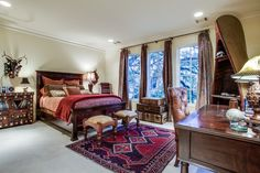The four additional bedrooms range in size and style, some with elegant marble, limestone or tumbled marble baths and all with deep cove molding, elegant drapery, neutral carpeting and large walk-in closets.  I Doris Jacobs Real Estate