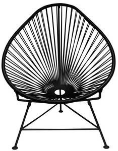 Acapulco Chair in Black with Black Frame