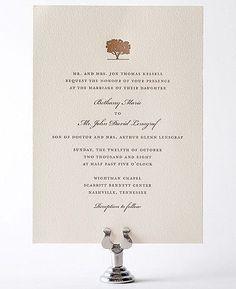 wedding invitations small oak tree design - Google Search