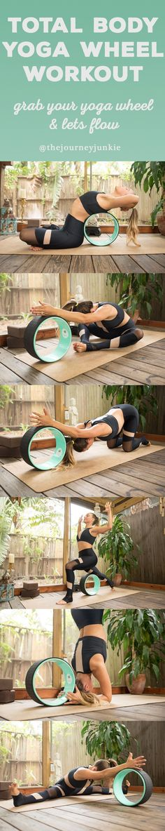 Wheel Flow: Total Body Workout Total Body Yoga Wheel Workout - Pin now, get yourself a wheel now, and let's flow!Total Body Yoga Wheel Workout - Pin now, get yourself a wheel now, and let's flow! Kundalini Yoga, Ashtanga Yoga, Vinyasa Yoga, Yin Yoga, Iyengar Yoga, Pilates Videos, Yoga Videos, Pilates Yoga, Pilates Reformer