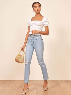 Women Jeans Outfit Boys Skinny Jeans Straight Jeans Casual Bohemian Attire Plus Size Formal Party Dresses Nigerian Dresses Jeans And Heels Outfit – gardeniarlily Best Casual Outfits, Summer Outfits, Cute Outfits, Beautiful Outfits, Girl Outfits, Boho Outfits, Heels Outfits, Jean Outfits, Outfit Jeans