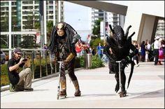 Alien vs. Predator razor race.  Who wins?  #alien #predator