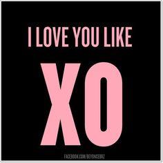Love you like XO | Love Quotes and Declarations by Marco Cruz Joalheiro