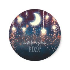 moon and stars enchanted romantic wedding classic round sticker navy night moon and stars glitter romantic wedding stickers Moon Wedding, Star Wedding, Glitter Wedding, Wedding Day, Celestial Wedding, Wedding Stuff, Dream Wedding, Wedding Rings, Star Stickers
