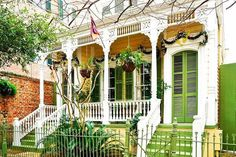 New Orleans, Louisiana - The South's Most Colorful Houses  - Southernliving. Suffice it to say, we're green with envy.