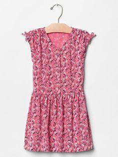 Floral shoulder-tie dress