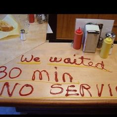 It's a restaurant not fast food! If you don't want to wait, leave! If I were this server, I'd have hunted them down.