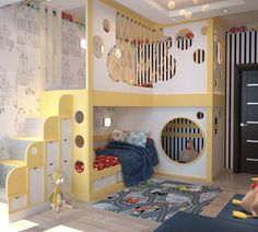 Das Kinderzimmer mit einem Abenteuerbett ausstatten