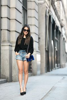 Classics with a Twist :: Ruffle shorts & Black sweater   Wendy's Lookbook   Bloglovin'