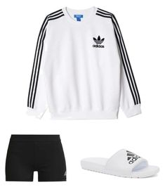 """Day at home"" by llupita on Polyvore featuring adidas Originals and adidas"