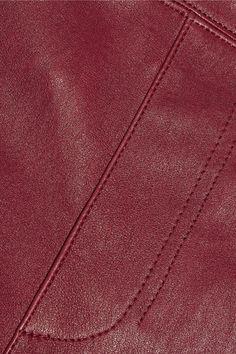 Helmut Lang - Stretch-leather Leggings - Burgundy - US6