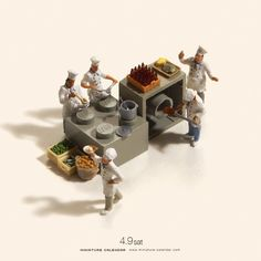 Bigger doesn't always mean better, as Japanese artist Tatsuya Tanaka proves with these tiny dioramas that he makes for his ongoing Miniature Calendar project.