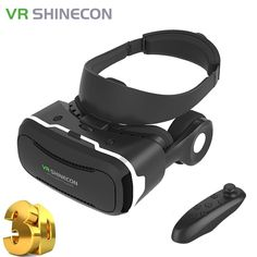 VR Shineon 4.0 Pro VR Headset Virtual Reality Goggles Shinecon VR Pro within Headphone for 4.5-6.0inch smartphone //Price: $37.80 & FREE Shipping //     #DRONE