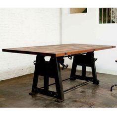 Nuevo V3 Press Leg Reclaimed Wood Top Dining Table   www.hayneedle.com