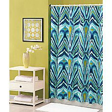 image of Trina Turk® 72-Inch x 72-Inch Shower Curtain in Blue Peacock