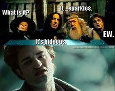 """it sparkles"" hahaha"