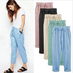 fe22394ccac 2018 summer cotton linen pants women plus size women pants casual brand trousers  women big size