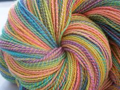 Hand dyed, Handspun Merino/Cashmere yarn, 423 yrds. Lace weight by TheNakedSpinner on @Etsy