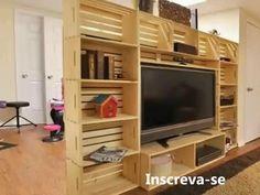 Como Transformar Palets em Móveis: Mesa de Centro / Por Carla Oliveira - YouTube