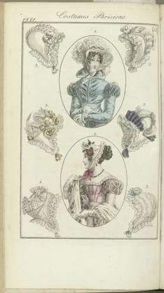 Journal des Dames et des Modes, editie Frankfurt 25 novembre 1821, Costumes Parisiens (48), anonymous, 1821 - Rijksmuseum